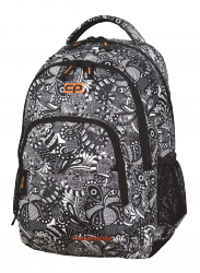 Plecak szkolny młodzieżowy COOLPACK BASIC czarno białe wzory do kolorowania, BLACK LACE 1087 (82662)