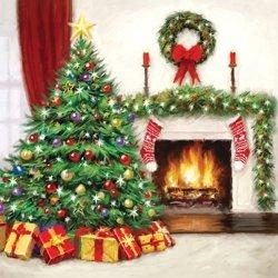 Serwetki świąteczne CHRISTMAS INTERIOR, Paw (SDL080100)