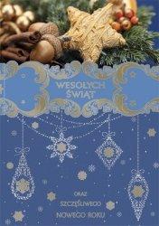Kartka świąteczna BOŻE NARODZENIE 12 x 17 cm + koperta (28215)