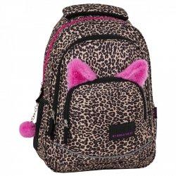 ZESTAW 3 el. Plecak szkolny młodzieżowy BackUP w panterkę, LAMPART (PLB2X91SET3CZ)