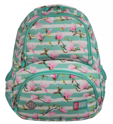 Plecak szkolny młodzieżowy ST.RIGHT kwiat magnolii, MAGNOLIA BP7 (22731)