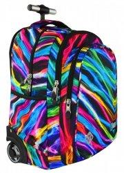 Plecak szkolny młodzieżowy na kółkach ST.RIGHT w kolorowe smugi, NEW ILLUSION TB1 (17775)