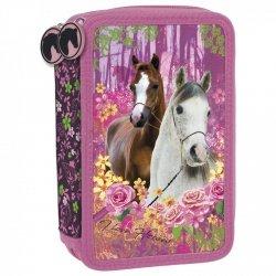 Piórnik trójkomorowy z wyposażeniem I LOVE HORSES Konie (PWTKO15)