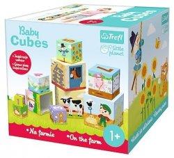 Kostki do układania BABY CUBES Na farmie TREFL (60468)