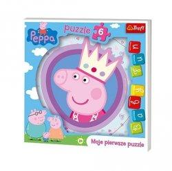 TREFL Puzzle 6 el. BABY FUN Peppa Pig, Świnka Peppa (36116)