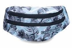 SASZETKA NERKA CoolPack na pas torba MADISON w kwiatki na błękitnym tle, SURF PALMS (B64021)