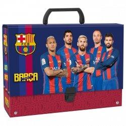 Gruba teczka z rączką FC BARCELONA (TRGBC)