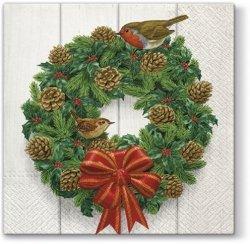 Serwetki świąteczne BOŻONARODZENIOWE, Paw (SDL058100)