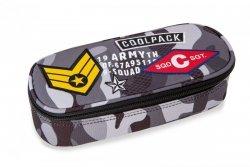 Piórnik CoolPack CAMPUS szare moro w znaczki CAMO BLACK BADGES (23919CP)