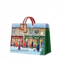 Torba torebka świąteczna WINTER SHOPWINDOW, Paw (AGB016006)