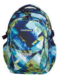 Plecak szkolny młodzieżowy COOLPACK FACTOR niebiesko-zielony, BLUE MARBLE 997 (71703)