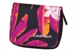 Portfel młodzieżowy COOLPACK HAZEL czarny w egzotyczne kwiaty TAHITI 571 (62206)