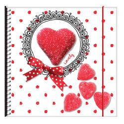 Pamiętnik na gumkę SERDUSZKO  (INT03595)