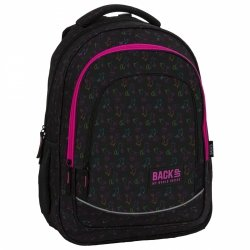 Plecak szkolny młodzieżowy BackUP 26 L tęczowe jednorożce, UNICORN OUTLINE (PLB3X30)
