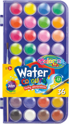Farby akwarelowe 36 kolorów COLORINO (67324PTR)