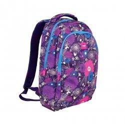 Plecak szkolny Milan In Bloom 17l fioletowy w kwiaty (624601IB)