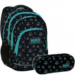 ZESTAW 2 el. Plecak szkolny młodzieżowy BackUP GWIAZDY (PLB2A33SET2CZ)