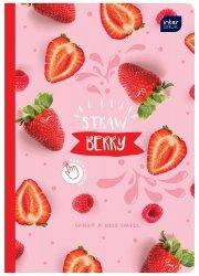 Zeszyt zapachowy A5 60 kartek w kratkę STRAWBERRY truskawka (67122)