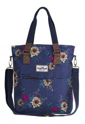 Torba CoolPack AMBER 2w1 torebka na ramię kwiaty na dżinsowym tle, BLUE DENIM FLOWERS (87117CP)