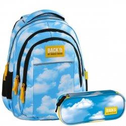 ZESTAW 2 el. Plecak szkolny młodzieżowy BackUP NIEBO (PLB2H32SET2CZ)