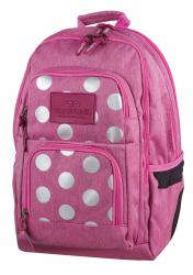 Plecak szkolny młodzieżowy COOLPACK UNIT różowy w kropki, SILVER DOTS/PINK 700 (78559)