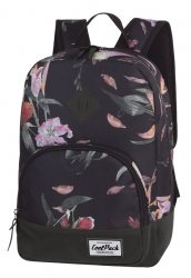 Plecak CoolPack CLASSIC miejski młodzieżowy pastelowe lilie na czarnym tle, LILIES (12416CP)