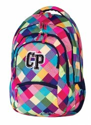 Plecak szkolny młodzieżowy CoolPack COLLEGE w kolorowe romby PATCHWORK 476 (59756)