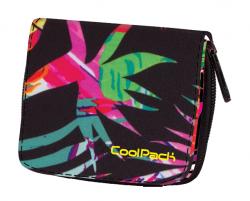 Portfel młodzieżowy CoolPack HAZEL w egzotyczne rośliny, TROPICAL ISLAND 778 (74001)