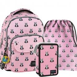 ZESTAW 3 el. Plecak szkolny młodzieżowy BackUP PANDY (PLB2L53SET3CZ)
