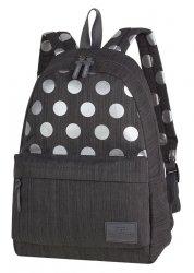 Plecak szkolny młodzieżowy COOLPACK STREET szary w kropki, SILVER DOTS/GREY (84595CP)