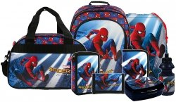 ZESTAW 8 el. Plecak szkolny SPIDER-MAN HOMECOMING (PL15BSH10)