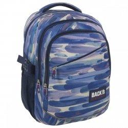 Plecak szkolny młodzieżowy Back UP niebieskie pasy BLUE STRIPES (PLB1G49)