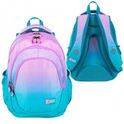 Plecak szkolny młodzieżowy ST.RIGHT w turkusowe ombre, TURQUISE OMBRE BP6 (26661)