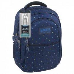 Plecak szkolny młodzieżowy Back UP kolorowe kwadraciki COLORFULL SQUARES + słuchawki (PLB1B15)