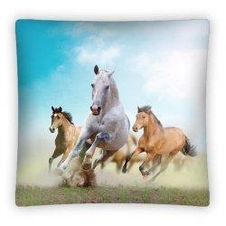 Poszewka na poduszkę 3D KONIE w kolorze 40 x 40 cm (PS0011)