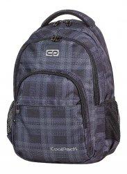 Plecak szkolny młodzieżowy COOLPACK BASIC czarny w szarą kratkę DERBY 368 (58902)