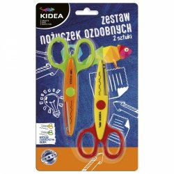 Zestaw dwóch nożyczek ozdobnych KIDEA (Z2NOKA)