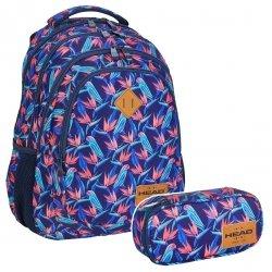 ZESTAW 2 el. Plecak HEAD w papugi, PARROTS HD-213 (502019015SET2CZ)