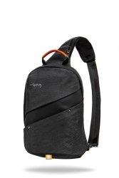 Plecak męski z kieszenią antywłamaniową Slim Black Czarny R-Bag (Z121)