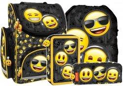 ZESTAW 4 el. Tornister szkolny ergonomiczny Emoji EMOTIKONY (TEMBEM10)