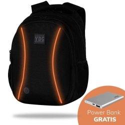 Plecak CoolPack LED JOY L czarny z pomarańczowymi dodatkami ORANGE (B81311)