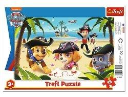 TREFL Puzzle Ramkowe 15 el. PSI PATROL Przyjaciele z Psiego Patrolu (31350)