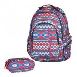 ZESTAW 2 el. Plecak CoolPack SPARK 2 szkolny młodzieżowy w kolorowe wzory, BOHO BEIGE 802 (74872SET2CZ)