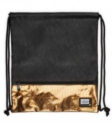 Worek na plecy HEAD czarny ze złotymi dodatkami, GOLD FASHION HD-352 (507019017)