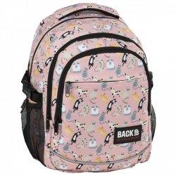 Plecak szkolny młodzieżowy BackUP kotki, CATS (PLB2G62)