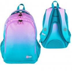 Plecak szkolny młodzieżowy ST.RIGHT w turkusowe ombre, TURQUOISE OMBRE BP57 (26678)