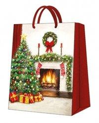 Torba świąteczna CHRISTMAS INTERIOR, Paw (AGB029305)