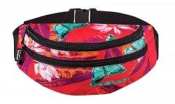 Saszetka na pas torba nerka COOLPACK MADISON egzotyczne kwiaty i motyle BAHAMAS 583 (62589)