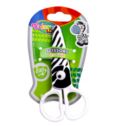 Nożyczki plastikowe 12,5 cm COLORINO ZEBRA (37275)