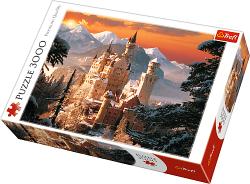 TREFL Puzzle 3000 el. Zimowy Zamek Neuschwanstein, Niemcy (33025)